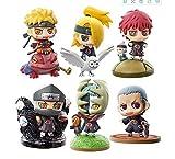 MNZBZ 6 Piezas/Set Naruto Uzumaki Naruto Zetsu Anime Figura de acción Juguetes de PVC colección de F...