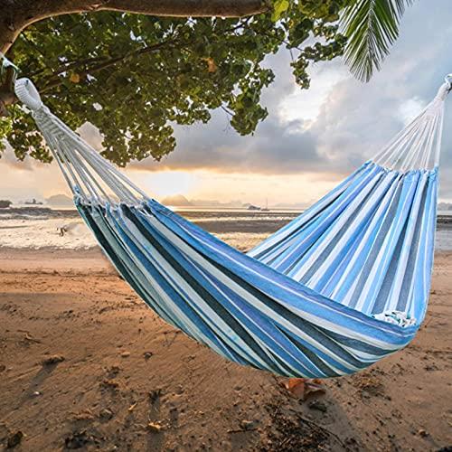 Hamaca, 2 personas Hamkock cama cómoda estilo brasileño hamaca para patio trasero, hamaca cama