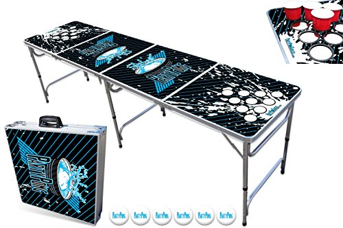 8-Foot Professional Beer Pong Table w/Holes - Splash Graphic