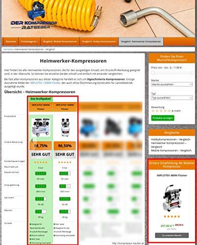 IMPLOTEX Flüsterkompressor 3000W 65dB - 8