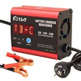 Katbo Battery Charger Maintainer 7A 6V 12V 24V Automatic voltage detection Real-time Battery