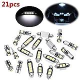 AVANI EXCHANGE Kit d'ampoule de Voiture LED intérieur Blanc 21pcs pour BMW Série 5 M5 E60 E61 (04-10)