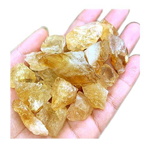AITELEI Natürliche 1 lb Brasilien Citrin Crystal Stone Rough Raw Original Rock Stones Probe Healing Collection Mineral Stein zum Taumeln, Lapidar Polieren, Wicca Reiki Crystal Healing und Handwerk