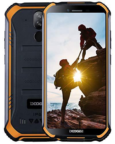 DOOGEE S40 Outdoor Smartphone ohne Vertrag 4G, IP68 Wasserdicht Handy Android 9,0 3GB RAM 32GB ROM, 5,5 inch Dual SIM 4650mAh Quadcore, 8MP+5MP Dual Kamera, NFC Fingerabdruck Gesicht ID - Orange