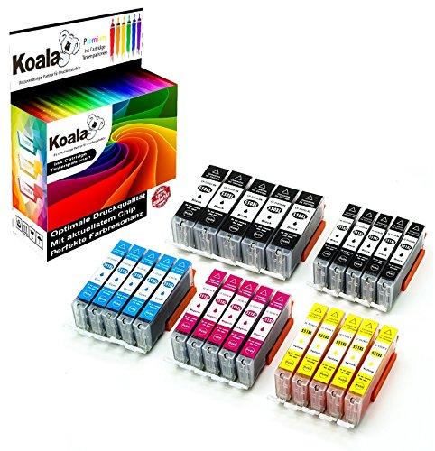 Koala 25 Druckerpatronen kompatibel für Canon PGI-550XL CLI-551XL PGI-550 CLI-551 für Canon Pixma IX6850 IP7250 IP8750 MG5450 MG5550 MG6350 MG6450 MG7150 MX725 MX925