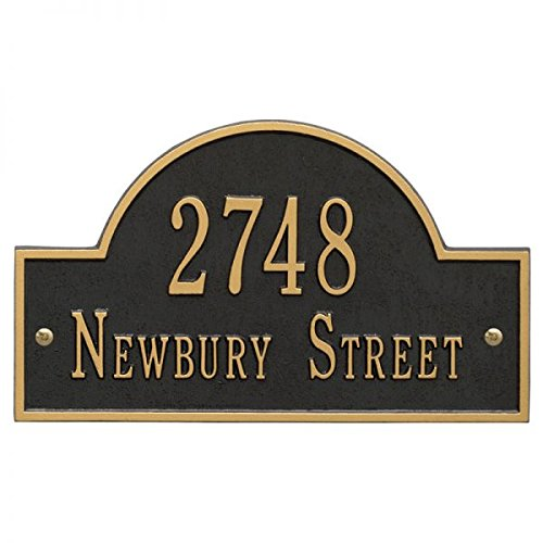 Personalized Cast Metal Address plaque displays your address and street name # 63159F1 Large Arch Custom House Number Sign