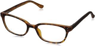 Foster Grant Women's Sheila Rectangular Reading Glasses, Matte Tortoise/Transparent, 50 mm + 2.5