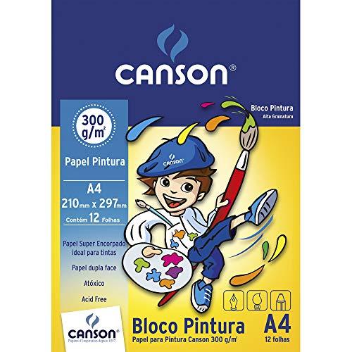 Bloco Pintura A4 300g/m² , Canson, 66667091, 12 Folhas