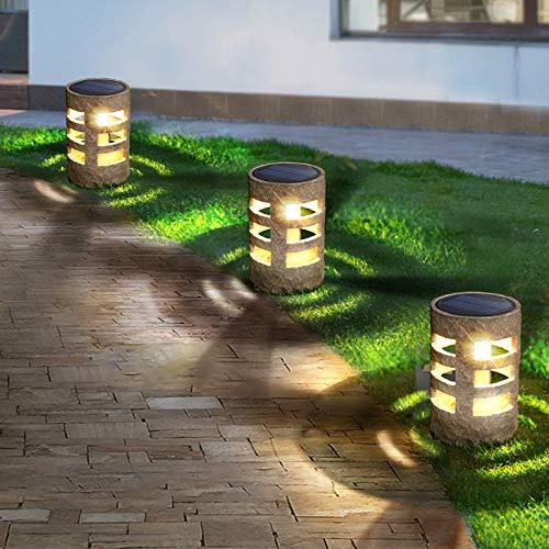 Solar Garden Lights, Outdoor Solar Rock Lights, Solar Yard Lights Waterproof, Auto On/Off .Suitable for Pathway,Grassland, Walkway,Yard,Backyard,Driverway (4pcs)