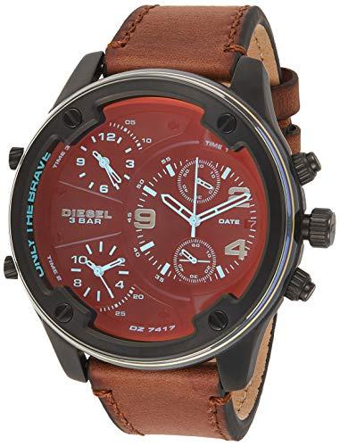 Diesel Herren Chronograph Quarz Uhr mit Leder Armband DZ7417