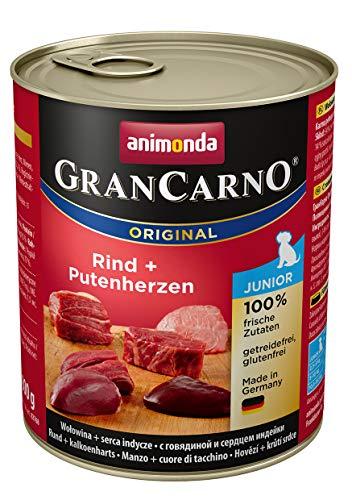 bester Test von trockenfutter fur hunde im Animonda Gran Carno Junior Hundefutter, Nassfutter für wachsende Hunde, Kalbfleisch + Putenherz, 6x…