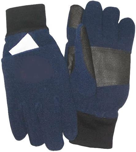 TechNiche International Air Activated Heating Full Finger Fleece Gloves - Navy - with 2 Pair Heat Pax Hand Warmers
