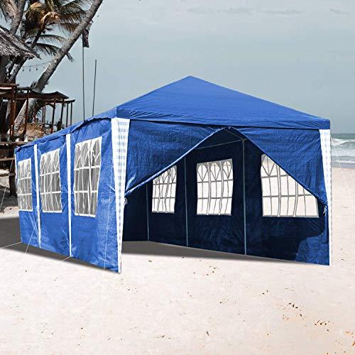 LXDDP Tente belvédère fête 3x9M avec 8 parois latérales chapiteau chapiteau Tente auvent entièrement étanche pour Le Jardin Mariage fête en Plein air