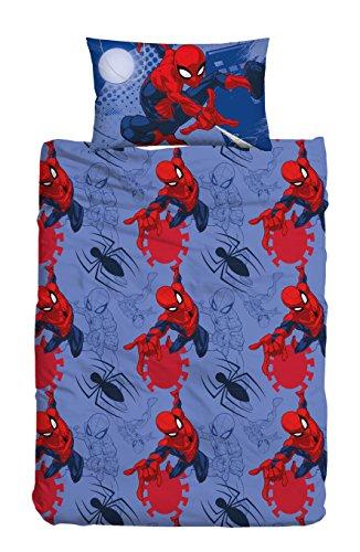 T&F 8050538310692 Parure Copripiumino Spider-Man Marvel, 100% Cotone, Multicolore, Singolo, 200x155x0.5 cm