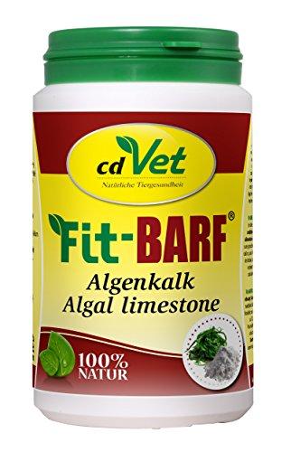 cdVet Naturprodukte Fit-BARF Algenkalk 250 g - Hund&Katze - natürliche Calciumquelle - Phosphorüberschussausgleich -Spurenelemente - 100% rein natürlicher Stoff - Rohfütterung - BARFEN -
