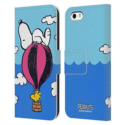 Head Case Designs Licenza Ufficiale Peanuts Snoopy & Woodstock Palloncini metà E Risate Cover in Pelle a Portafoglio Compatibile con Apple iPhone 5 / iPhone 5s / iPhone SE 2016