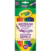Crayola 12 Watercolour Pencils, Adult Colouring, Bullet Journaling, School and Craft Supplies, Drawing Gift for Boys and Girls, Kids, Teens Ages 5, 6,7, 8 and Up, Back to school, School supplies, Arts and Crafts,  Gifting