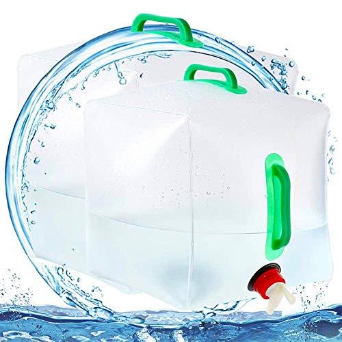 FANDE Bidon d'eau Pliant,Réservoir d'eau Portable Pliable PVC Grande Capacité,pour Eau Potable(10 l + 20 l) Convient pour Camping Pique-Nique Escalade Extérieurs Survie d'Urgences.