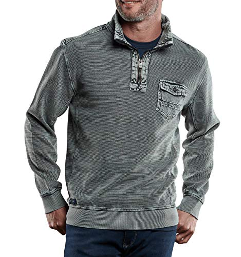 engbers Herren Sweatshirt Stehbund, 28725, Grau in Größe XXL