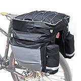 RUIXINLI Bolso Portador de Bicicletas Bolsa de Bicicleta de Tres en uno Bicicleta Paquete de Equipaje Usado para Bicicleta Marco de Carro Sillín Bolsa Bolsa de Hombro Ordenador portátil