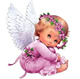 YUMEART 5D DIY Diamond Painting Angel Baby Embroidery Full Square Diamond Cross Stitch Lovely Angel Rhinestone Mosaic Kits