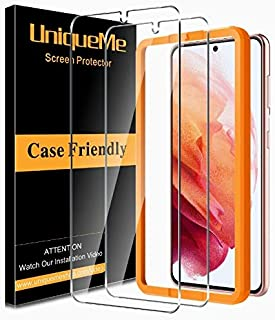 [2 Pack] UniqueMe Screen Protector Compatible for Samsung Galaxy S21 (6.2 inch) Tempered Glass [Not for Samsung S21 Plus /...