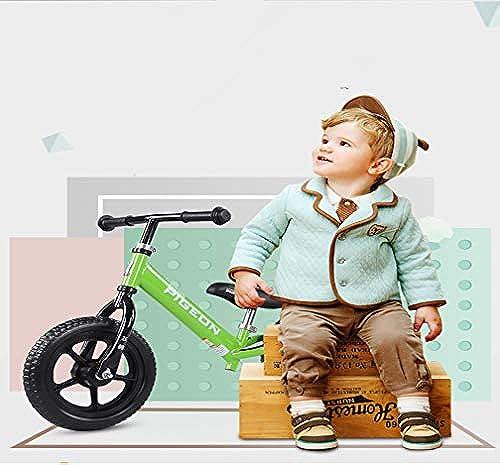 RCIN Kinder Laufrad 4 Jahre, Kein Pedal Einstellbarer Sattelgriff Mit Schaumrad FüR mädchen Jungen Alter 2 Bis 6 Jahre Training Bike Push Walking fürrad Grün
