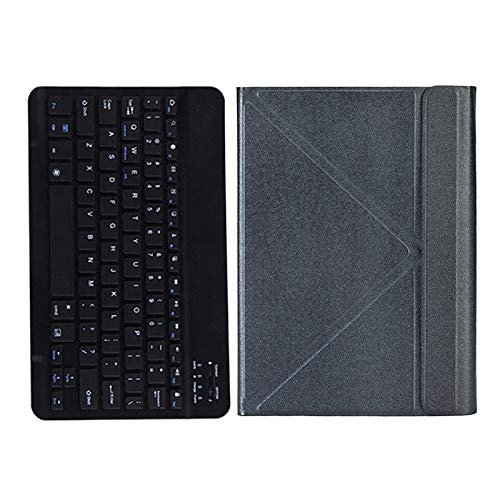 Fransande - Funda para tablet y teclado inalámbrico para Teclast P20HD M40 ALLDOCUBE IPlay20 / Pro para 9,7-10,4 pulgadas, universal, color gris oscuro