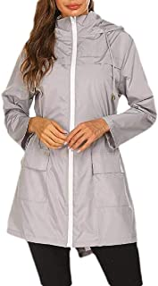Women Lightweight Softshell Waterproof Outdoor Hoodie Raincoat