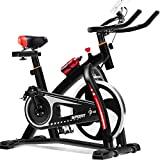Spinning Bike Indoor Cycling Bike Glatte, leise Riemenantrieb Indoor-Heimtrainer Home Cardio Workout Upright