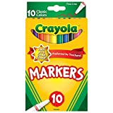 Crayola Classic Fine Line Markers, Multi Color (10 Counts)