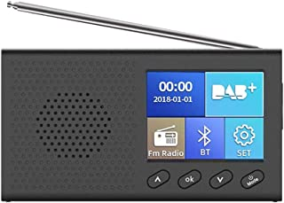 Digital Tuner Broadcast Radio, Rechargeable Handheld Digital FM DAB MP3 Player with 2.4 Inch Color LCD