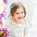 Unicra Bride Wedding Pearl Hair Vines Crystal Babys Breath Headpieces Wedding Hair Accessories for Women and Girls (Gold)