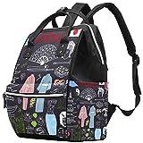 Mochila de viaje de ropa japonesa, casual, bolsa de maternidad, bolsa organizadora para biberones de enfermería