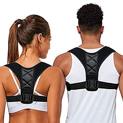 Rücken Geradehalter Damen Orthopädisch Haltungskorrektur Rücken Herren RückenstüTze Rückenbandage Perfect Posture BH Frauen Männer Back Posture Correctorr (Schwarz)