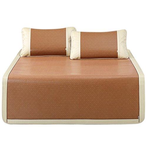 Tapis en trois pièces d'été 1.8m lit double simple dortoir étudiant 1.5 tapis pliant siège en rotin style classique lisse sans bavures, bandage anti-déplacement Xuan - worth having ( taille : 180*200cm )