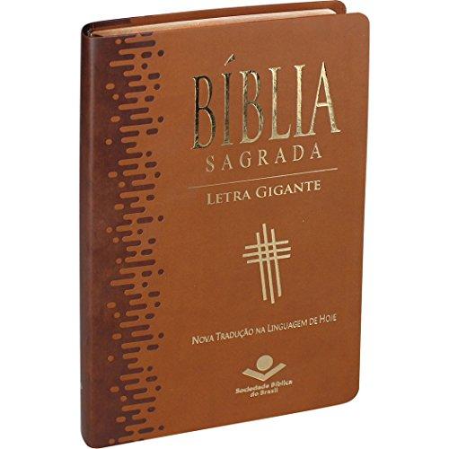 Bíblia Sagrada Letra Gigante com índice - Capa couro sintético Marrom claro: Nova Tradução na Linguagem de Hoje (NTLH)