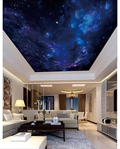 mznm Foto 3D Tapete Decke Wand Papier Dream Night Sky Deckenleuchte Wandbild Hintergrundbilder für Wohnzimmer Malerei Dekoration 350x250cm