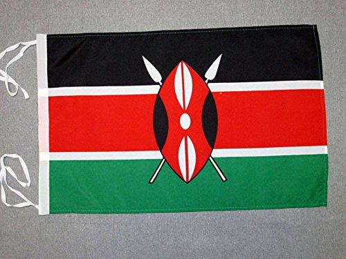 AZ FLAG Flagge Kenia 45x30cm mit Kordel - KENIANISCHE Fahne 30 x 45 cm - flaggen Top Qualität