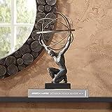 Universal Lighting and Decor Atlas with Globe 17 1/4' High Bronze Sculpture - Studio 55D