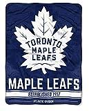 NORTHWEST NHL Toronto Maple Leafs Micro Raschel Throw Blanket, 46' x 60', Break Away