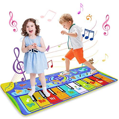 LEADSTAR Juguetes Niños 1 2 3 Años, Alfombra Musical Piano para Niños Alfombrilla de Baile Teclado Estera de Alfombra Touch Juego Musical Portátil Educativo Musical Tapete, Juguete Electrónico