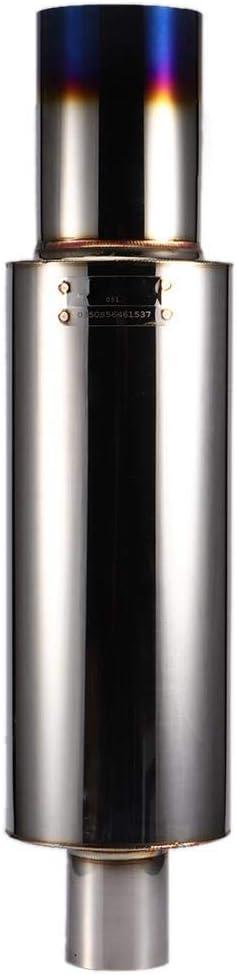 63-133 Tubo de escape de coche Tubo de escape de acero inoxidable Tubo de salida de entrada de cola Accesorio universal 63 mm//2.5in