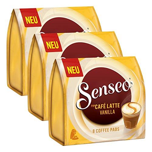 Senseo Kaffeepads Café Latte Vanilla, 24 Pads, 3Packungen