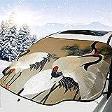 Jeffrey Toynbee Hermoso Arte asiático Parabrisas del Coche Sun Shade Snow Ice Cover Protector del Parabrisas Cubierta