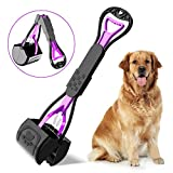 pupgang Pet Pooper Scooper for Dogs Cats for Puppy Small Medium Large Dogs Portable Dog Poop Shovel Doody Digger Dog Travel Foldable Extra Long Handle Indoor Outdoor for Grass Gravel Yard