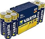Varta 4106101316 Longlife Batteria Alcalina, Stilo AA LR06, Confezione da 16 Pile Confezione risparmio - il design può variare