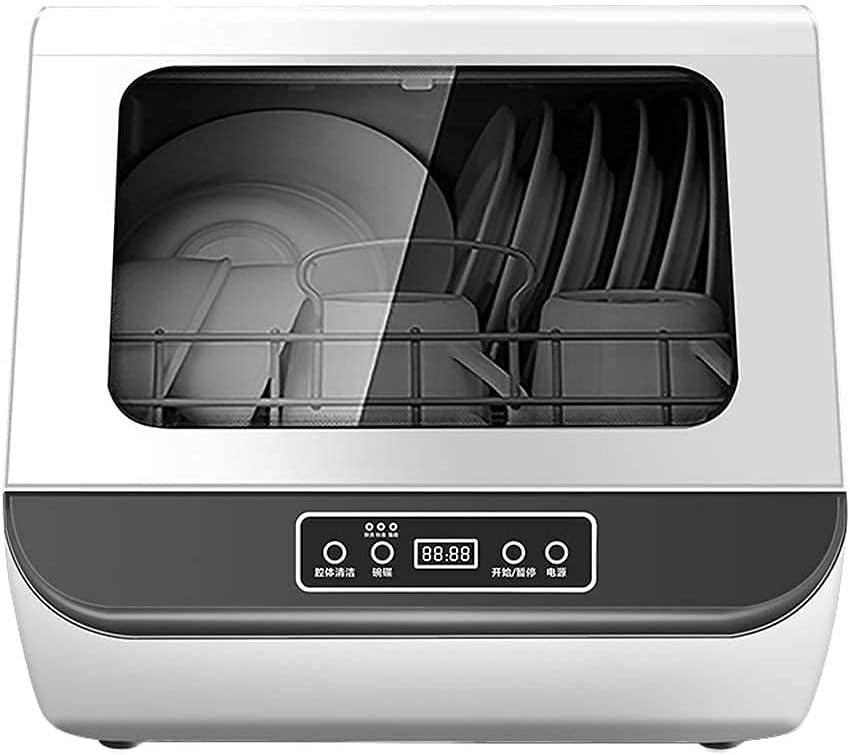 MOSHUO Lavavajillas Compacto de encimera, lavavajillas portátil Profesional, Pantalla LED, 3 programas Ajustables, fácil de Limpiar [Clase energética A]