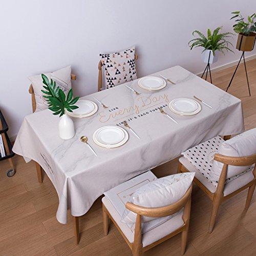 LWF-Nappe européenne Nappes rectangulaires en tissu de coton de coton Nappes en tissu de table de café Nappes fraîches nordiques Nappes épaisses anti-chaudes 100 * 140CM