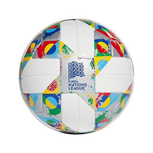 adidas Jungen UEFA Mini Turnierbälle für Fußball, White/Silver met./Multicolor, 1